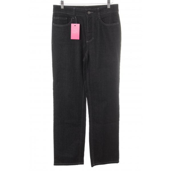 Mac Boot Cut Jeans schwarz Casual-Look