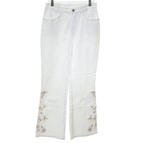 Mac Boot Cut Jeans weiß Casual-Look
