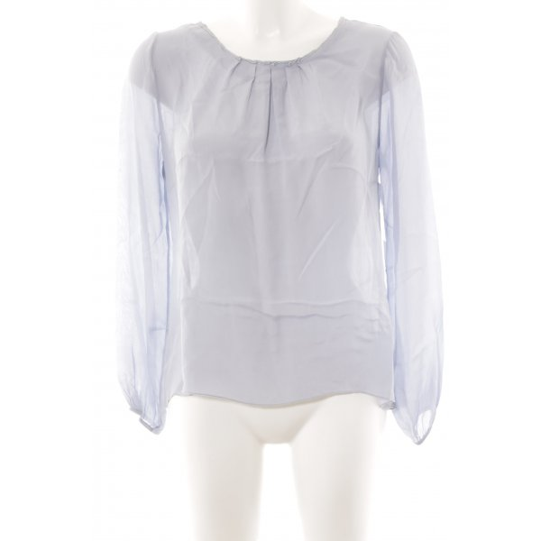 Made in Italy Langarm-Bluse himmelblau Casual-Look