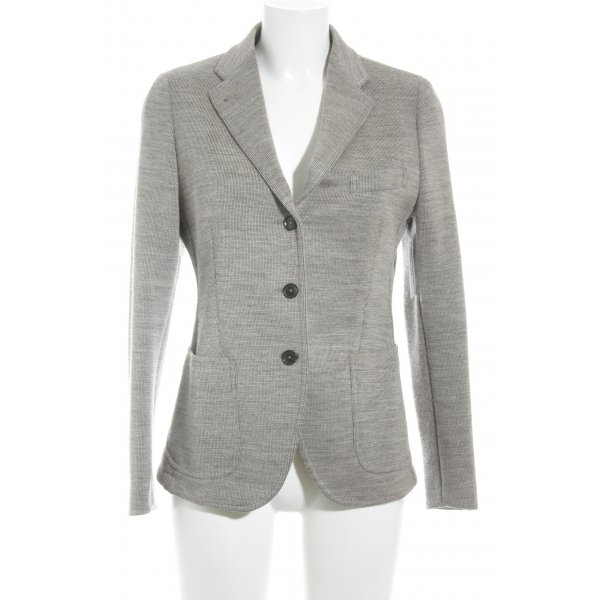 Made in Italy Strickblazer graubraun Casual-Look