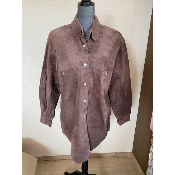 Madeleine Leder Hemd Bluse Jacke  Größe  38/40, Neu ohne Etikett ,Vintage