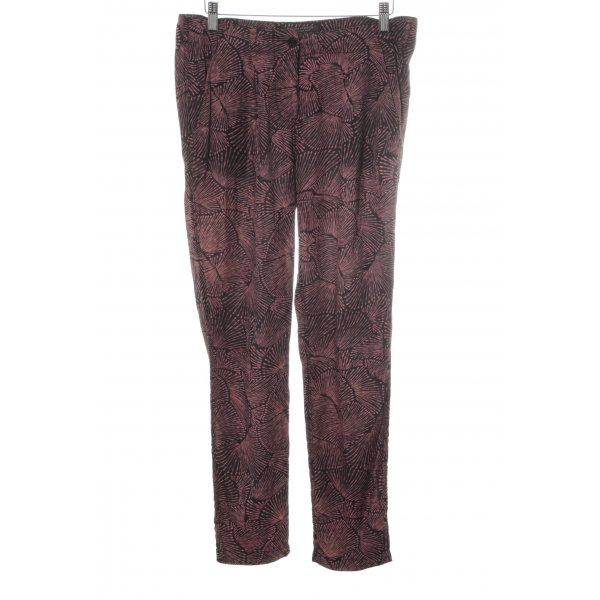 Madison Scotch Stoffhose schwarz-hellrot abstraktes Muster Casual-Look