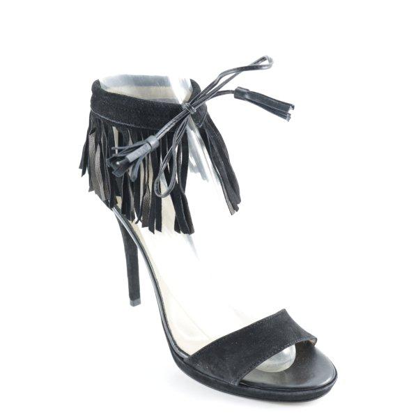 Mai piu senza Peeptoe Pumps schwarz Street-Fashion-Look