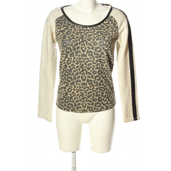 Maison Scotch Rundhalspullover Leomuster Casual-Look