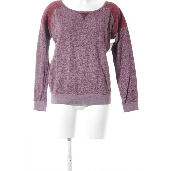 Maison Scotch Rundhalspullover purpur Casual-Look