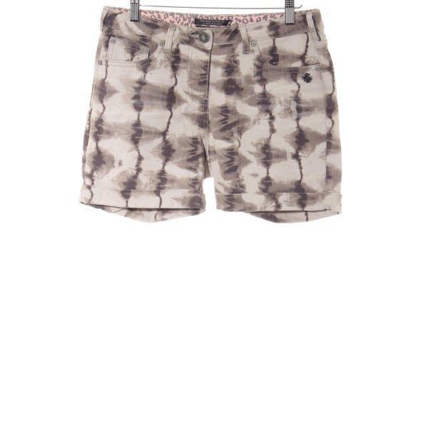 Maison Scotch Shorts abstraktes Muster Boyfriend-Look