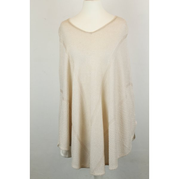 Maje Knitted Poncho cream mixture fibre