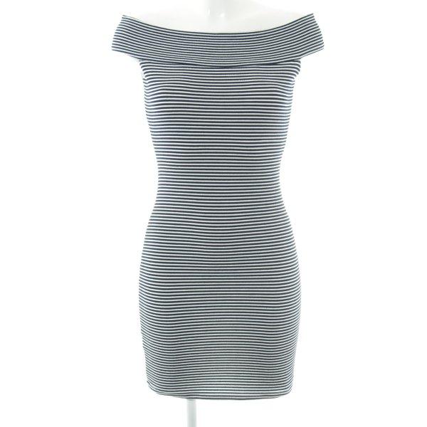 Mango Basics Minikleid dunkelblau-weiß Streifenmuster Elegant