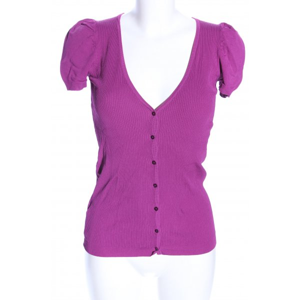 Mango Basics Rippshirt pink Casual-Look