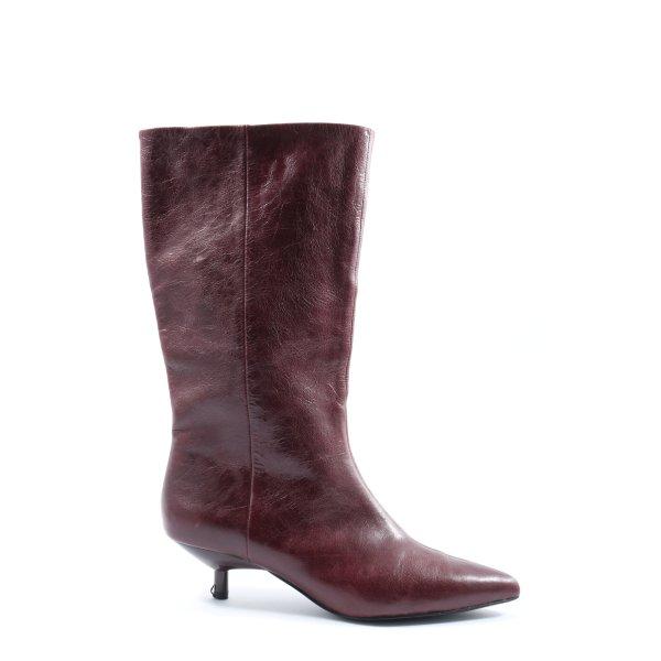 Mango High Heel Stiefel rot Casual-Look