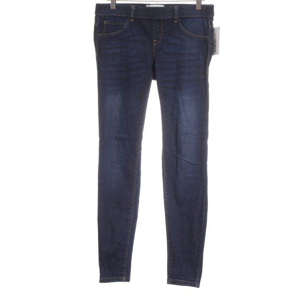 Mango Jeans Jeggings dunkelblau Street-Fashion-Look
