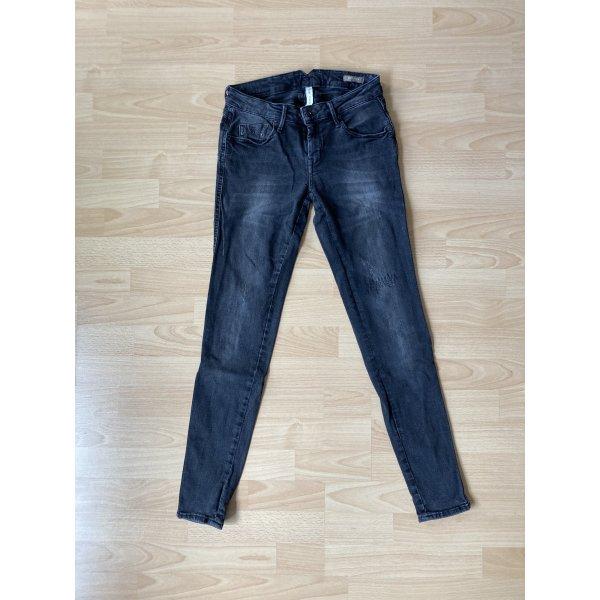 Mango, Jeans schwarz/grau
