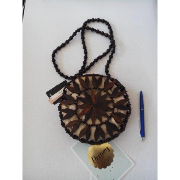Mango kleine Umhängetasche aus Holz, Korbtasche, neu