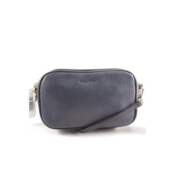 Mango Minitasche schwarz-dunkelblau Street-Fashion-Look