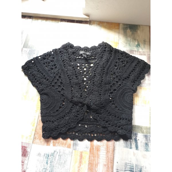 Mango Casual Sportswear Gebreide bolero zwart