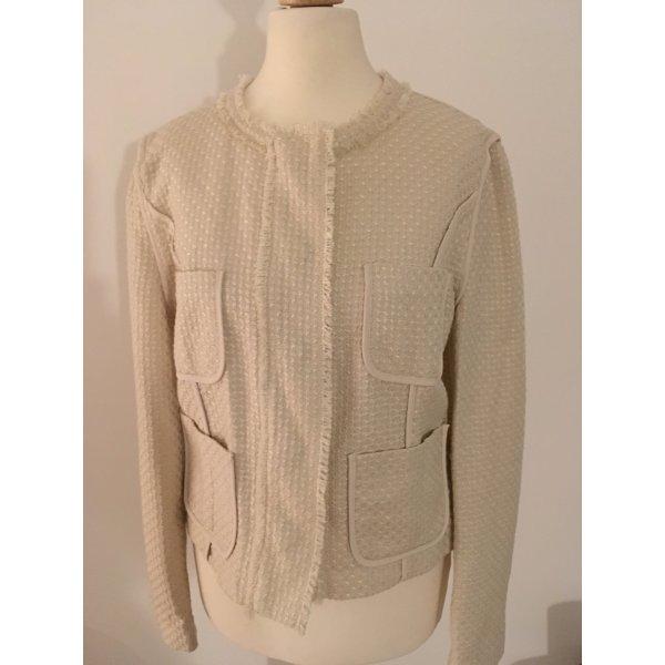 Mango Suit Boucle Blazer Creme EUR M