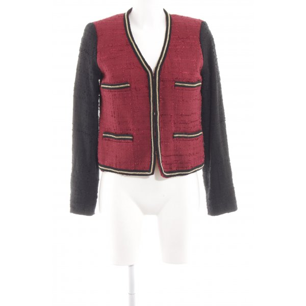 Mango Suit Kurz-Blazer rot-schwarz Casual-Look