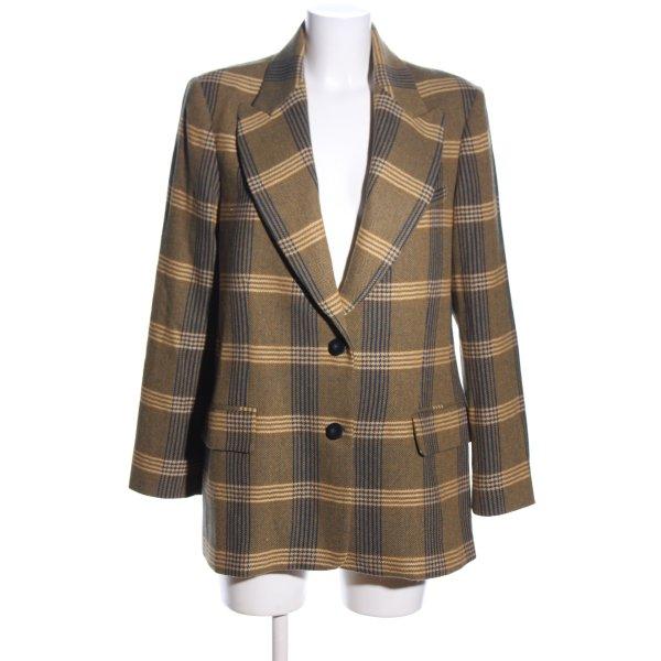 Mango Suit Long-Blazer hellorange-blau Karomuster Business-Look