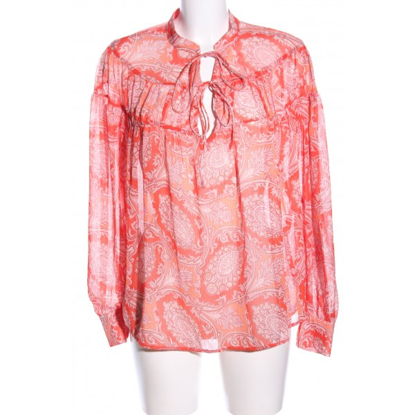 Mango Transparenz-Bluse rot-hellorange Mustermix Casual-Look