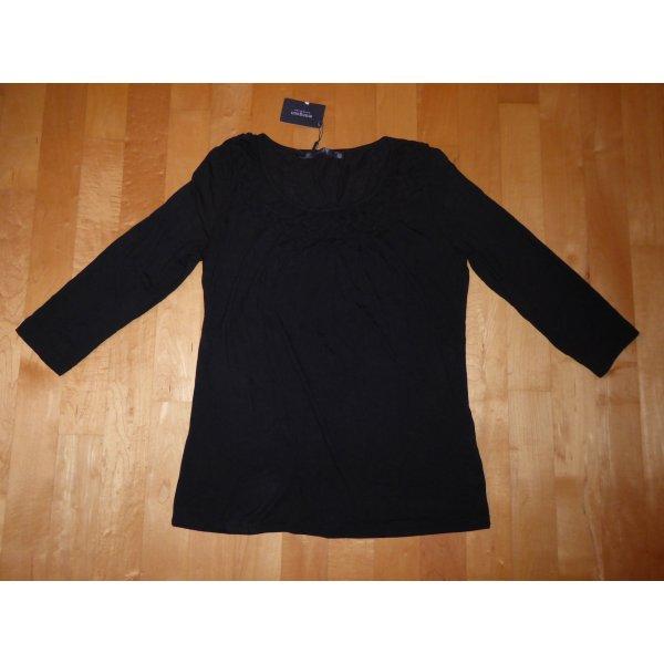 Manguun Collection 3/4-Arm Shirt 40 schwarz Viskose Neu m.Etikett
