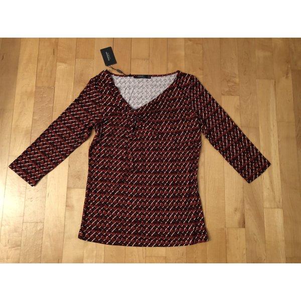 Manguun Collection 3/4-Arm Tunika Shirt Papaya Rostrot 38 Neu