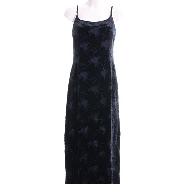 Mani Trägerkleid blau Blumenmuster Elegant
