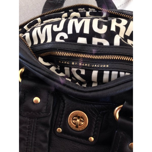 Marc Jacobs Carry Bag black-gold-colored leather