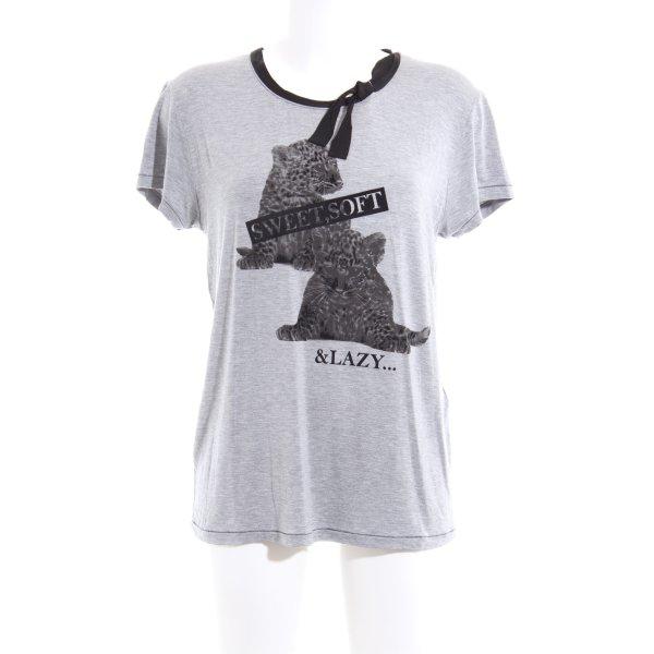 Marc Cain Print-Shirt silberfarben Animalmuster Casual-Look