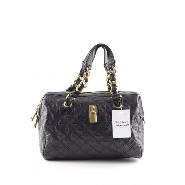 Marc Jacobs Carry Bag black check pattern wet-look
