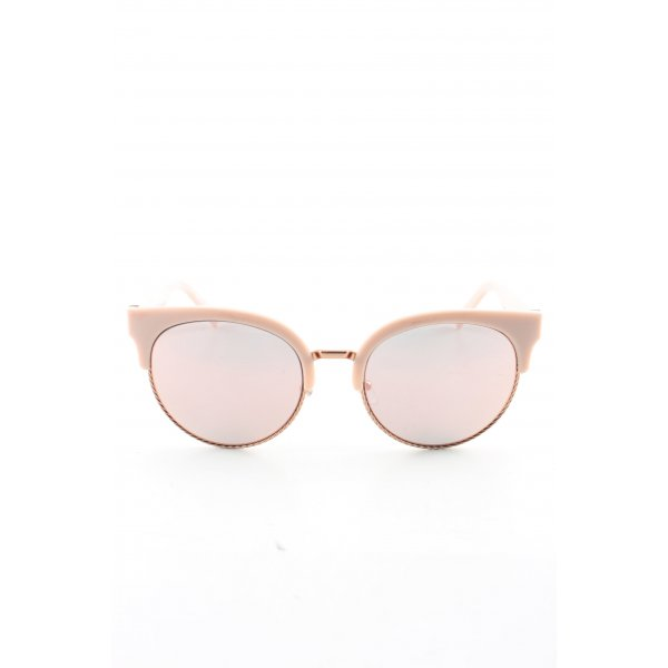 Marc Jacobs ovale Sonnenbrille creme Business-Look