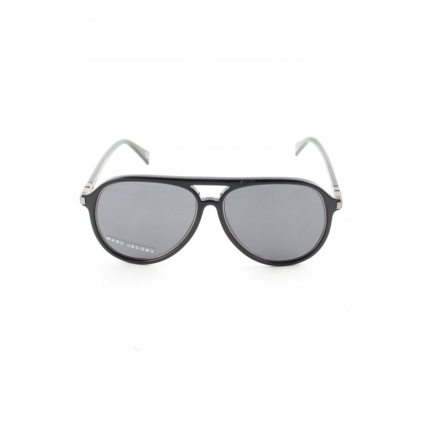 Marc Jacobs ovale Sonnenbrille schwarz Business-Look