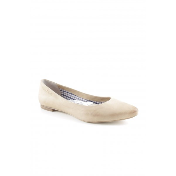 Marc O'Polo Ballerinas mit Spitze beige Casual-Look