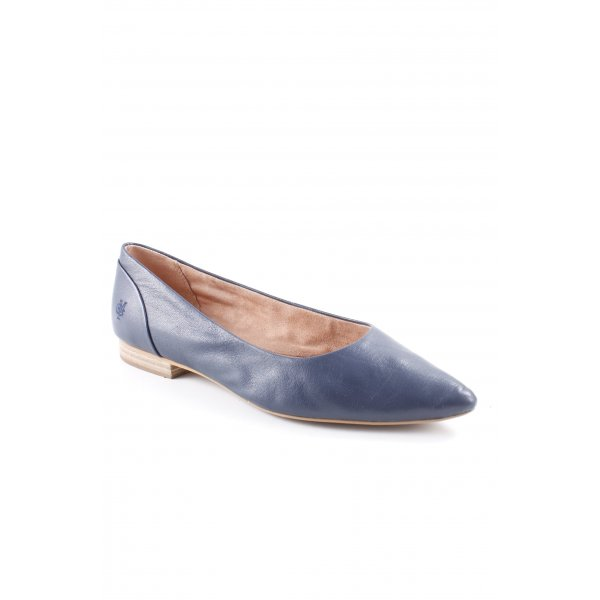 Marc O'Polo Ballerinas mit Spitze dunkelblau-stahlblau Business-Look