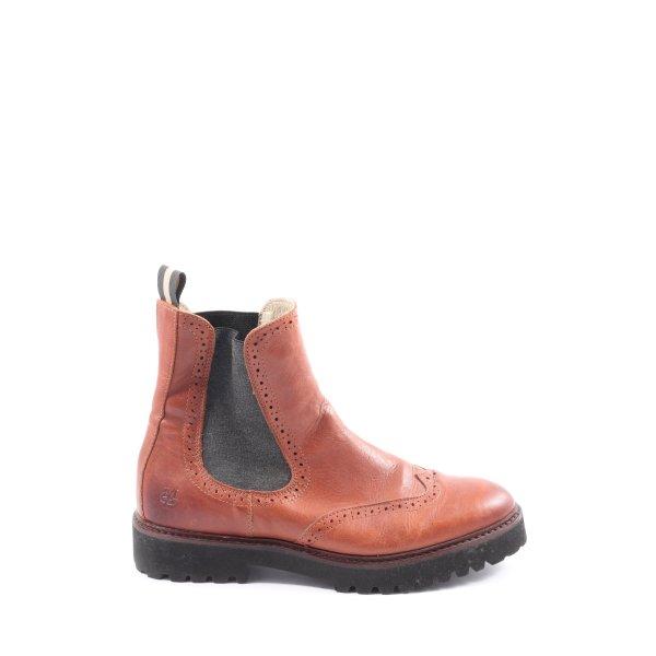 Marc O'Polo Chelsea Boots braun-schwarz Casual-Look