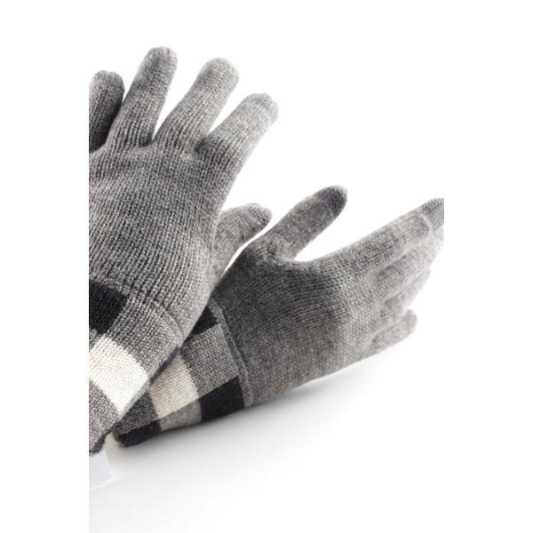 Marc O'Polo Vingerandschoenen grijs-zwart geruite print casual uitstraling