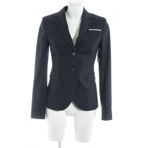 Marc O'Polo Long-Blazer dunkelblau-wollweiß Nadelstreifen Business-Look