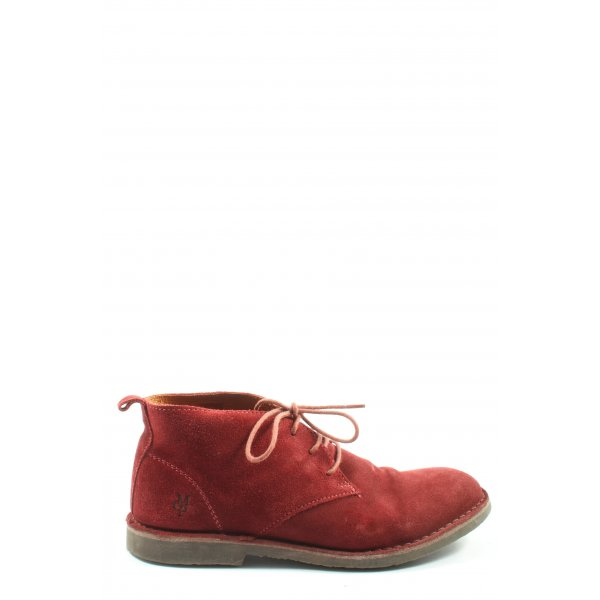Marc O'Polo Schnür-Stiefeletten rot Casual-Look