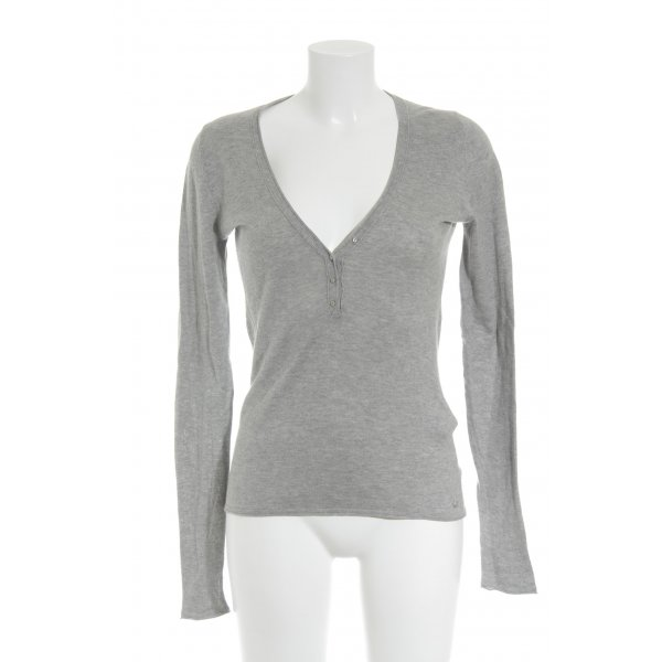 Marc O'Polo Pull tricoté gris moucheté style décontracté