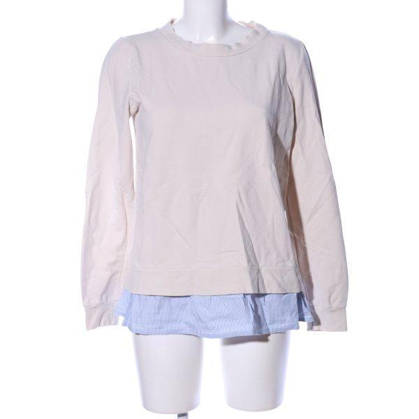 Marc O'Polo Sweatshirt creme-blau Streifenmuster Business-Look