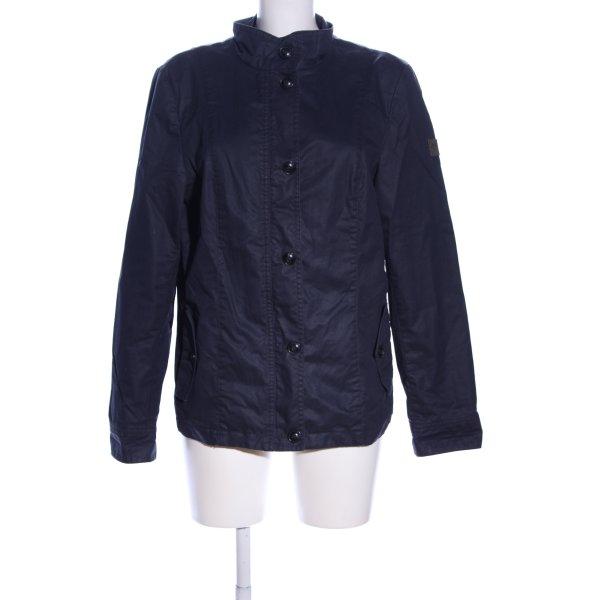 Marc O'Polo Wachsjacke blau Casual-Look