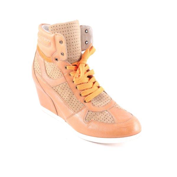 MARC Wedge Sneaker hellbraun-orange Casual-Look