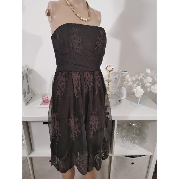 marie lund Kleid spitze Abendkleid festlich braun
