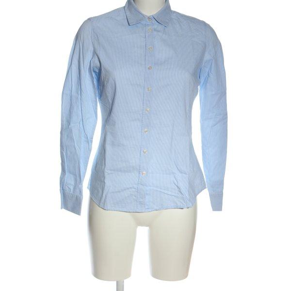 Marie Lund Langarmhemd blau-weiß Streifenmuster Business-Look