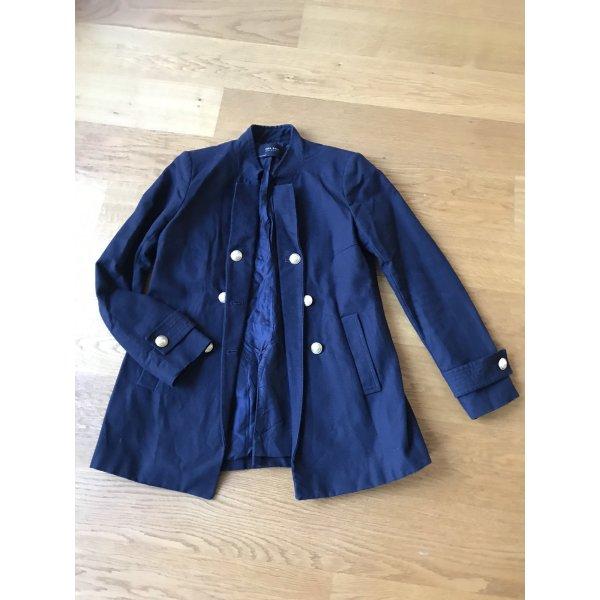 Zara Basic Naval Jacket dark blue-gold-colored