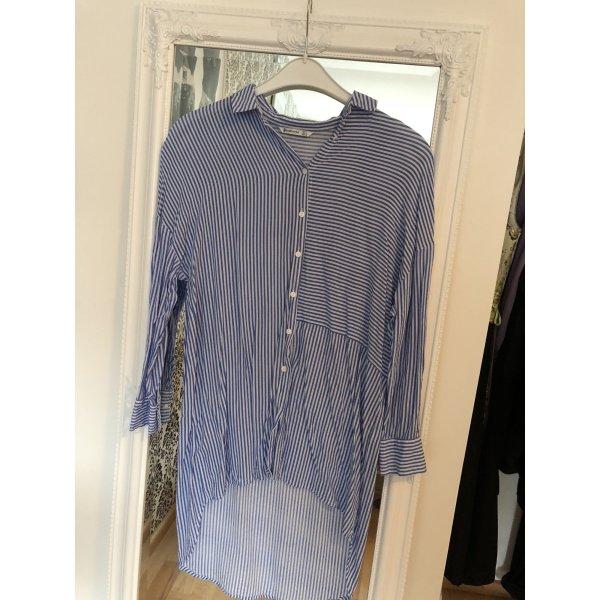 Marine Longbluse, lange Bluse Hemd