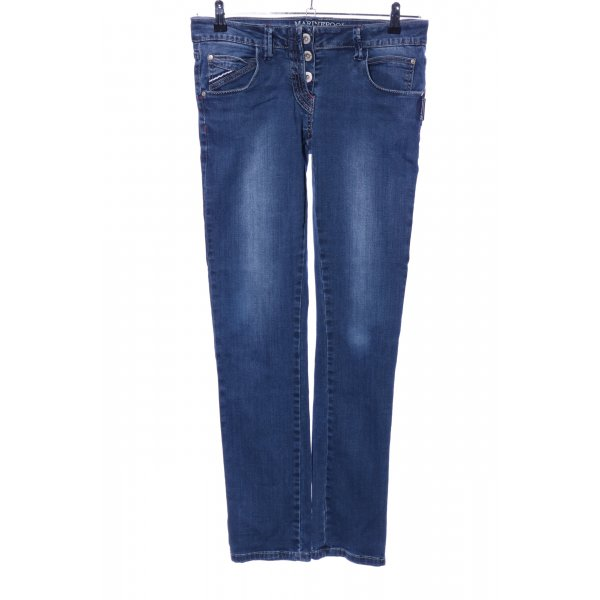 Marinepool Straight-Leg Jeans blau Casual-Look