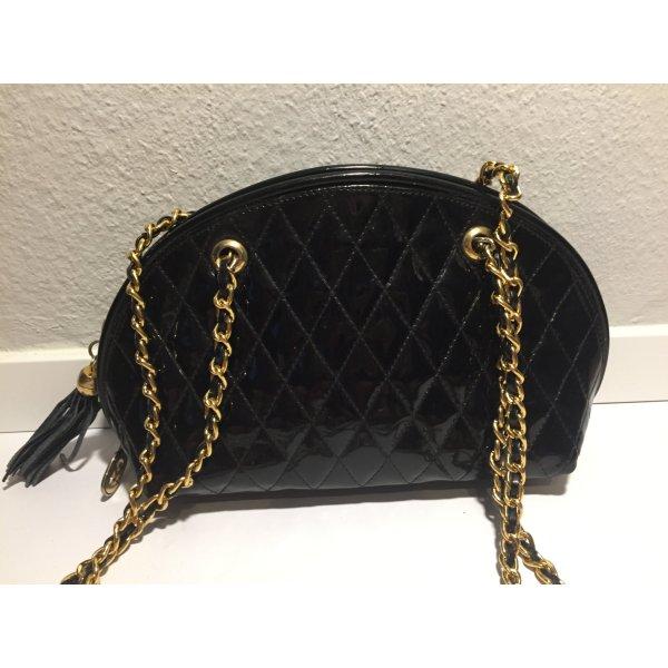 Marino Orlandi Designer-Handtasche Lackleder mit Kettenhenkel