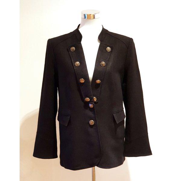 Mariposa Klassischer Blazer black linen