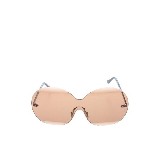 Marni ovale Sonnenbrille nude-schwarz Elegant