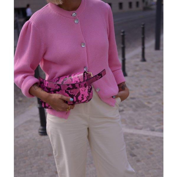 Marques' Almeida Snake-effect leather shoulder bag Tasche pink